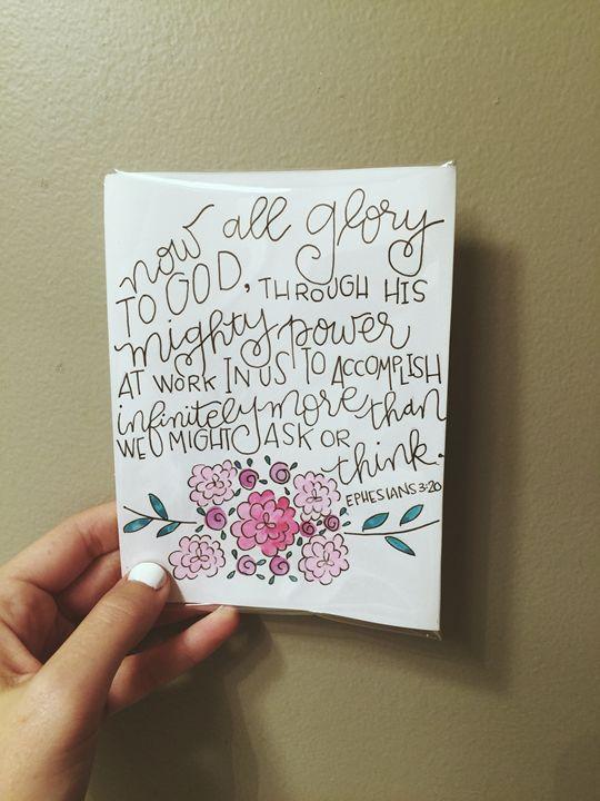 Ehpesians 3:20 Nugget Size - Chelsea Bair