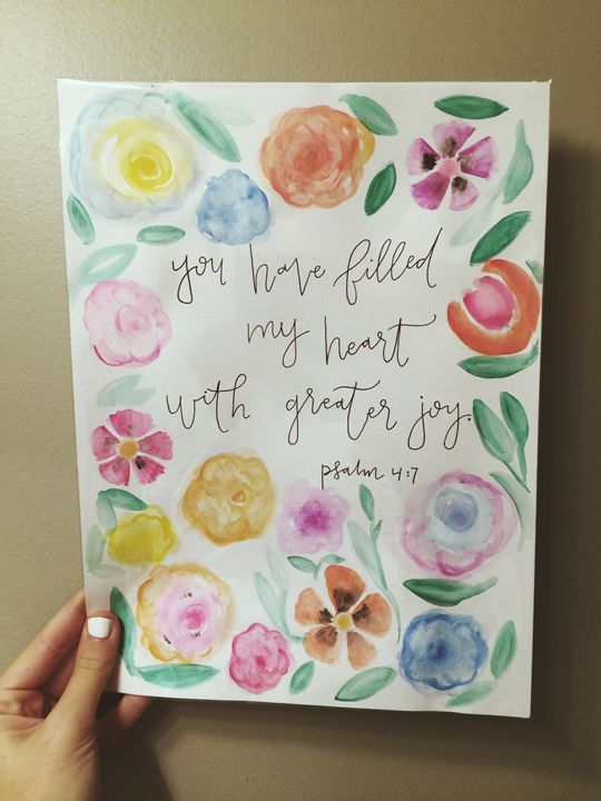 Psalm 4:7 - Chelsea Bair