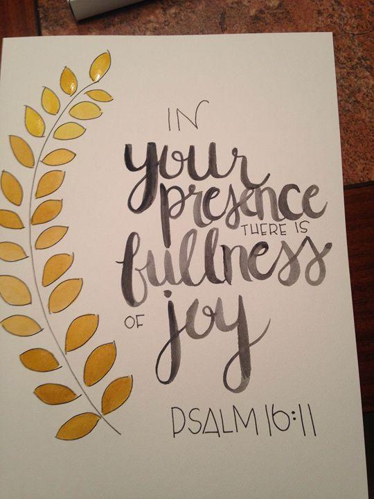Psalm 16:11 - Chelsea Bair