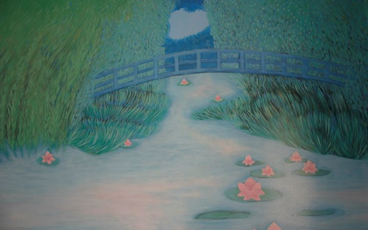 A walk on Monet's bridge - Marlena Art