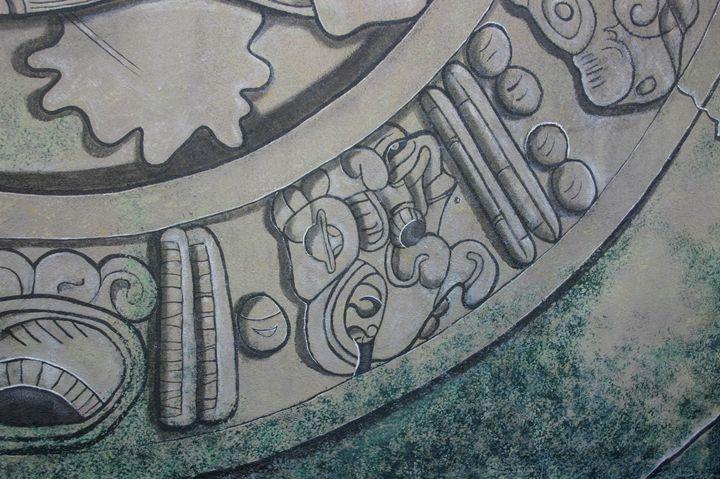 Detail of Mayan motifs - Marlena Art