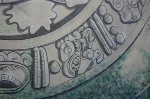 Detail of Mayan motifs