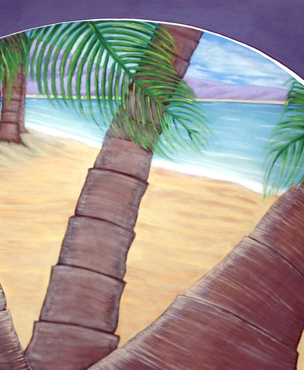 Palms by the beachside - Marlena Art