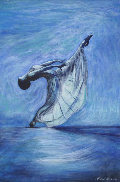 Blue dancer - Marlena Art