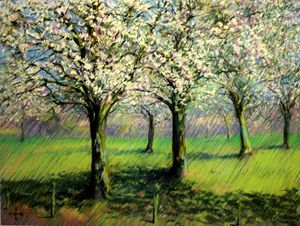 Flowering trees (2014) (sold) - Corné Akkers art works