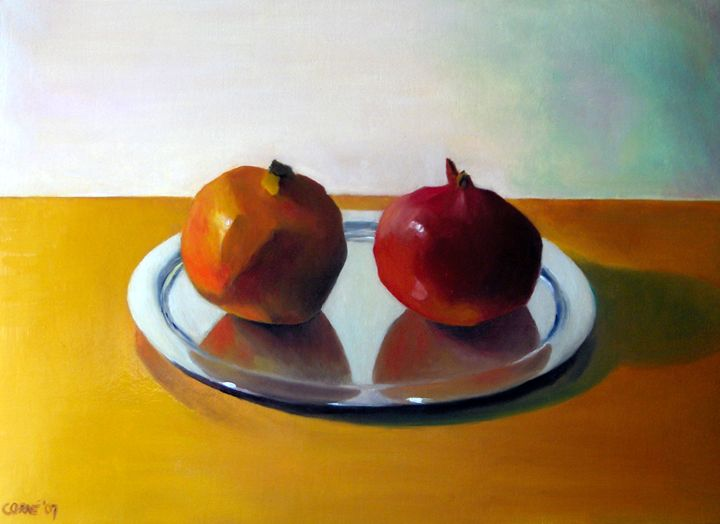 Old and young pomegranate (sold) - Corné Akkers art works