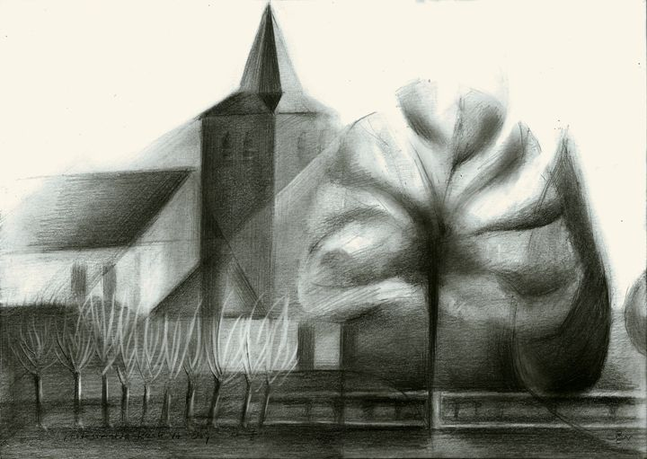 The protestant church at De Ooij - Corné Akkers art works