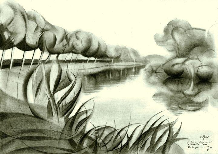 Strange goings on at Meertje (sold) - Corné Akkers art works