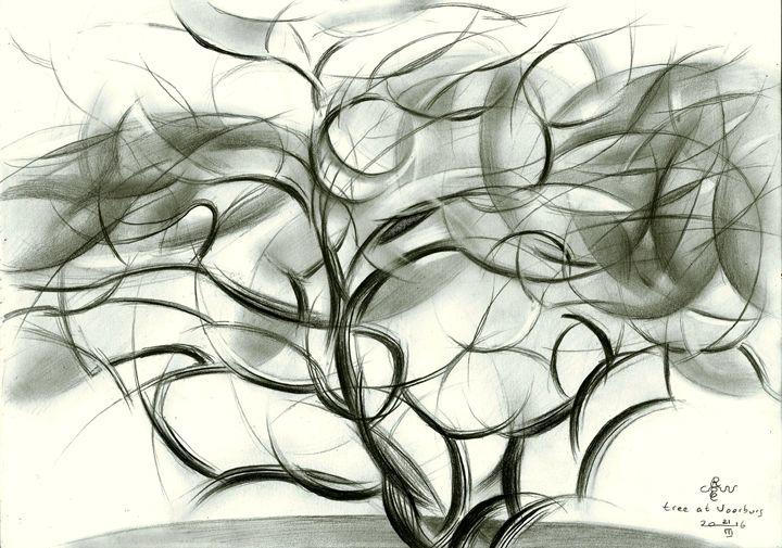 Tree at Voorburg - 21-03-16 - Corné Akkers art works