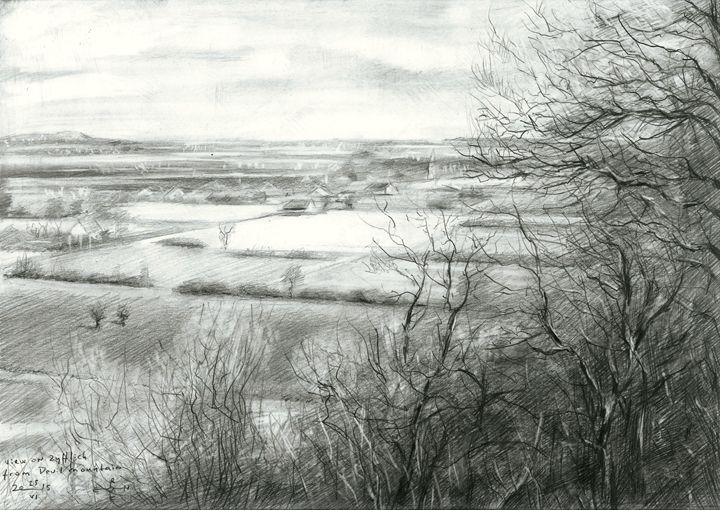 View on Zyfflich - Devil's mountain - Corné Akkers art works