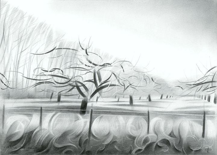 Zoelen Forest - 04-02-17 (sold) - Corné Akkers art works