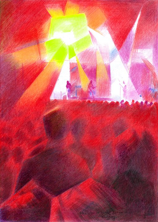 The Shins (live@Paradiso) 20-04-17 - Corné Akkers art works