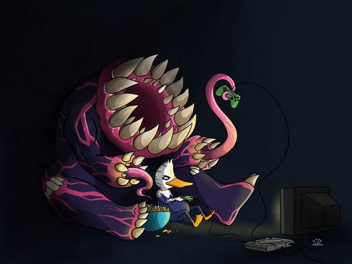 Venom The Duck - Game Night - Cat Murdock