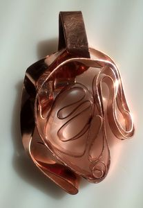 Abstract sculpture pendant