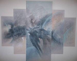 E. Lee Abstract Acrylic on Canvas