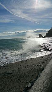 Happy seas of Almunecar Spain