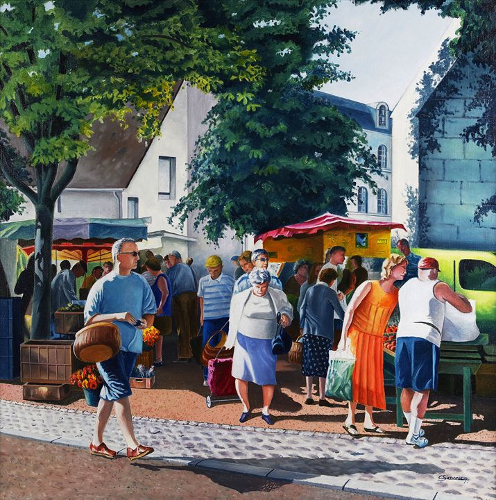 Market day - Christian Simonian