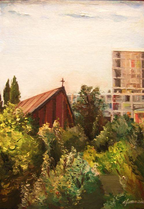 the small suburban church of paris - Christian Simonian
