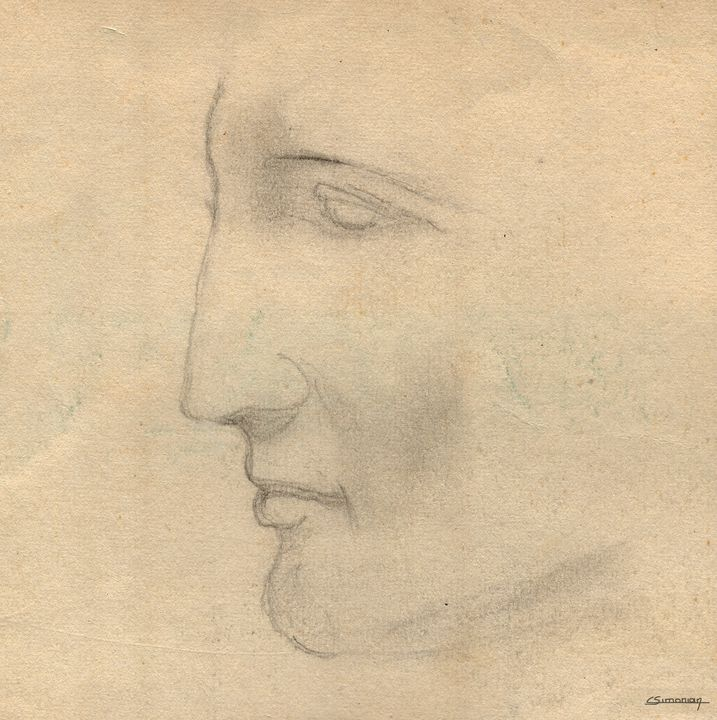 Antique greek profil - Christian Simonian