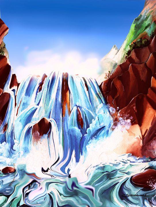 Waterfall in mountain - Christian Simonian