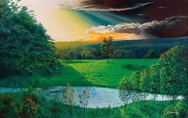 sunset at l hermitiere - Christian Simonian