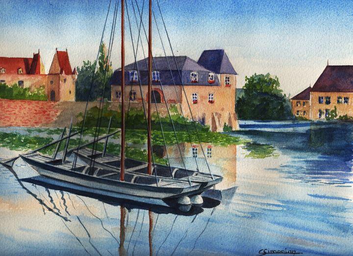 Little boat on the Loir France - Christian Simonian