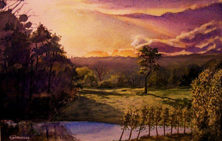 Sunset at l Hermitière - Christian Simonian