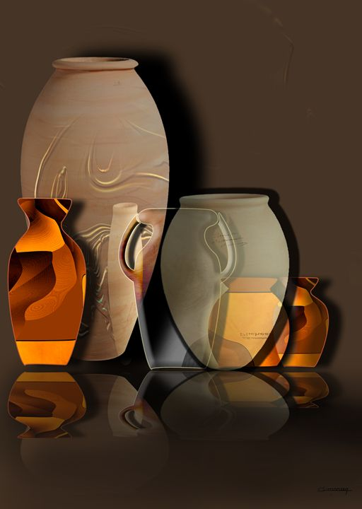 Pottery and vase 4 - Christian Simonian