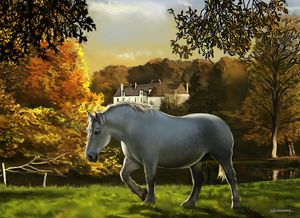 Th horse and the chateau - Christian Simonian