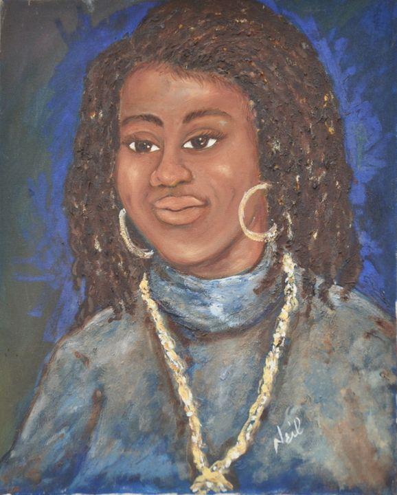 Portrait of Girl - Neil's Original Art