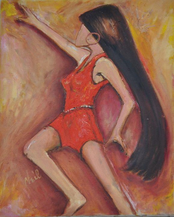 Marching Girl - Neil's Original Art