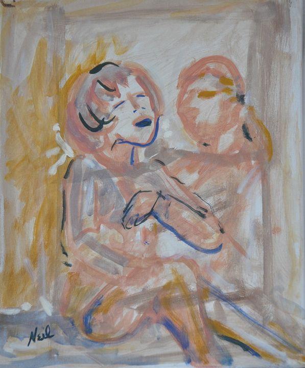 Friends - Abstract - Neil's Original Art
