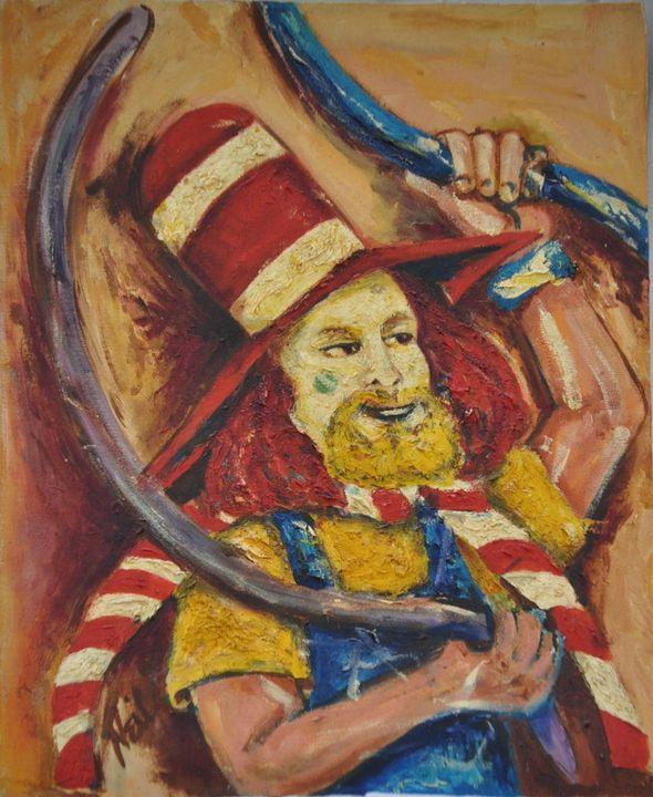 Balloon Clown - Neil's Original Art