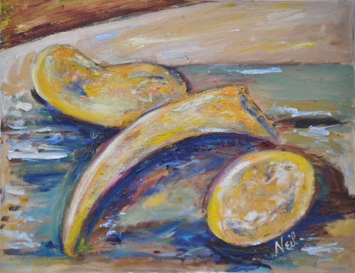 Yellow Bean Abstract - Neil's Original Art