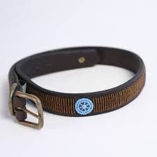 Brown vertical line bead  Dog collar