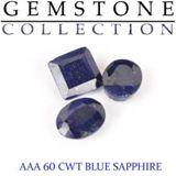 60 CWT Blue Sapphire Lot