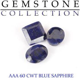 60 CWT Blue Sapphire Lot - It's Damn Good Art
