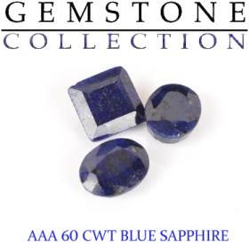 60 CWT Blue Sapphire Lot - It's Damn Good Art