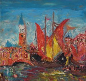 Atracando en Venecia