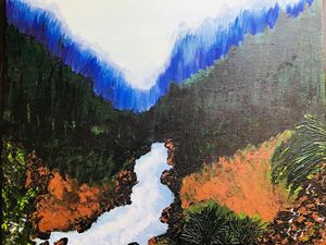 A Landscape Painting with Acrylics