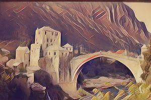 Die Brücke von Mostar - Art & Love by kasaan
