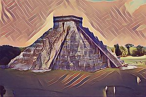 Die Pyramide in Guatemala - Art & Love by kasaan