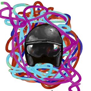 Colour strings and a helmet