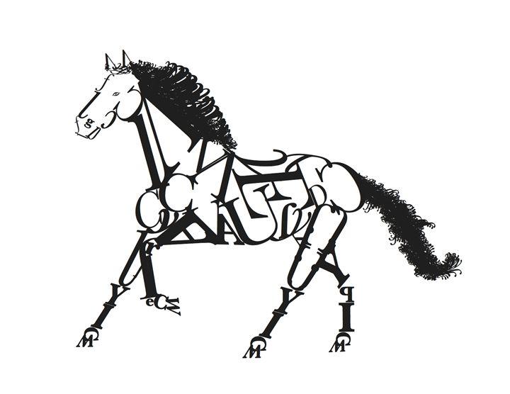 Typography Horse - Gardner's Gallery