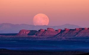 Monument Valley Moon Rising