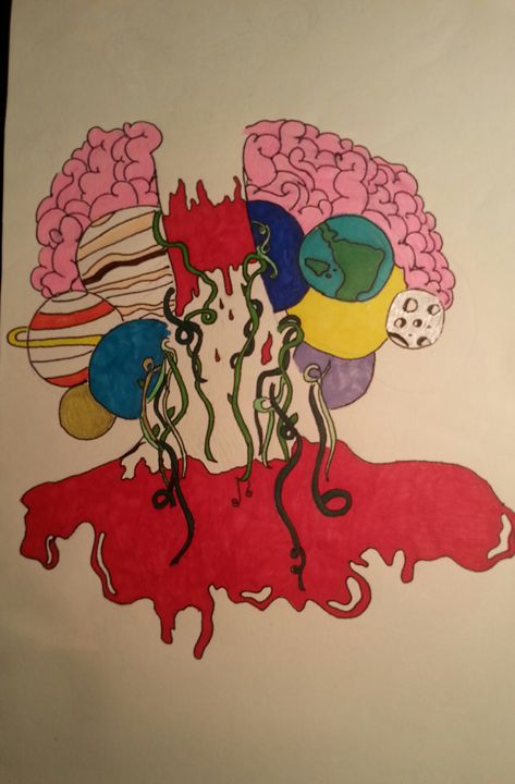 Inner space - Samantha's night art