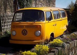 Yellow VW - David Jones
