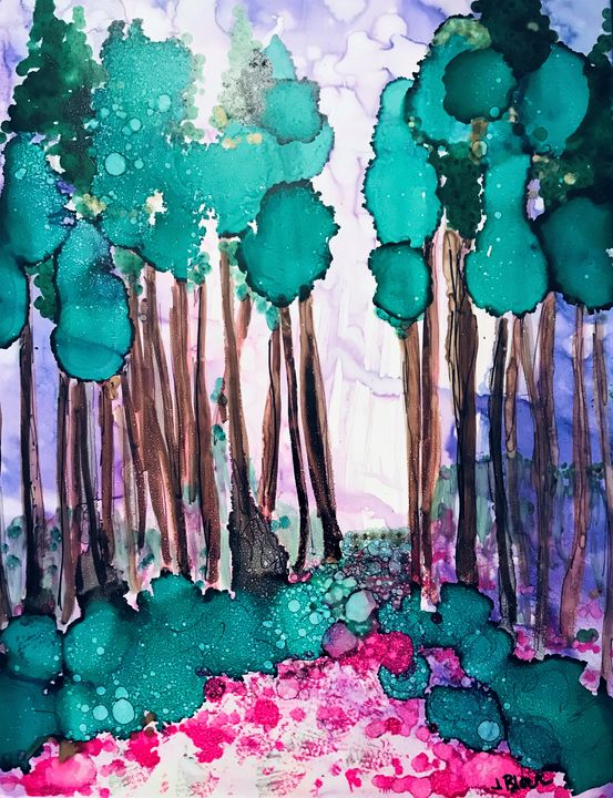 Purple Haze and Pines - Judy Block