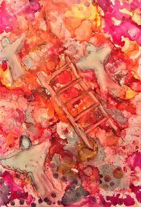 Jacob's Ladder, Pink and Orange