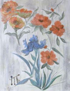 Iris and Wild Roses